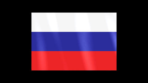National Flags 4 RUS Russia Stock Video Footage