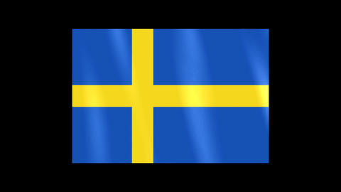 National Flags 4 SWE Sweden Stock Video Footage