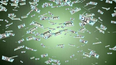 20 Dollars Falling 03 Stock Video Footage