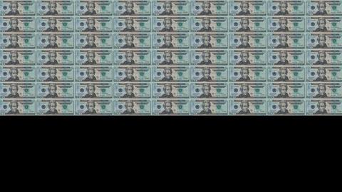 20 Dollars Wall 01 Stock Video Footage