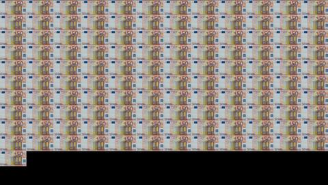 50 Euros Wall 01 CG動画