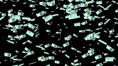 100 Euros Falling 01 Stock Video Footage