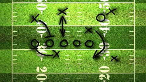 American Football Tactics 02 Stock Video Footage