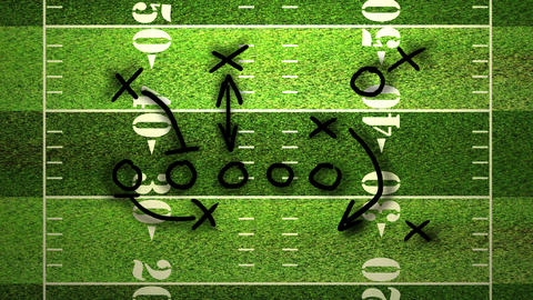 American Football Tactics 02 Stock Video Footage