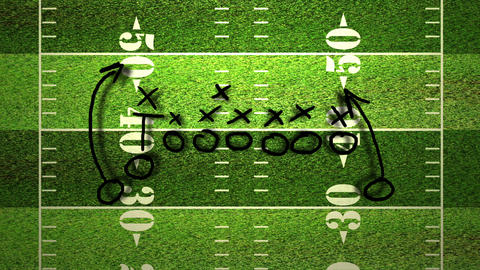 American Football Tactics 04 Stock Video Footage