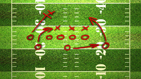 American Football Tactics 06 Stock Video Footage