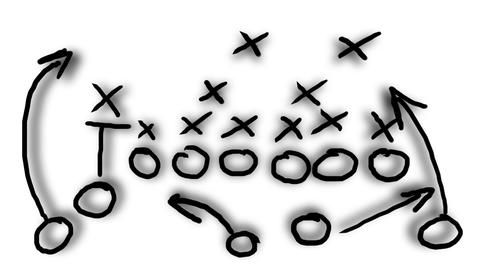 American Football Tactics 08 Stock Video Footage