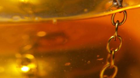 Tea with Metal Filter closeup 03 Stock Video Footage
