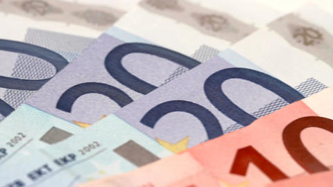Euro Banknotes 02 Dolly Stock Video Footage