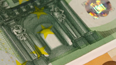Euro Banknotes 04 Dolly Stock Video Footage