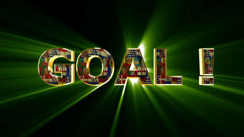 goal animated Stock Video Footage