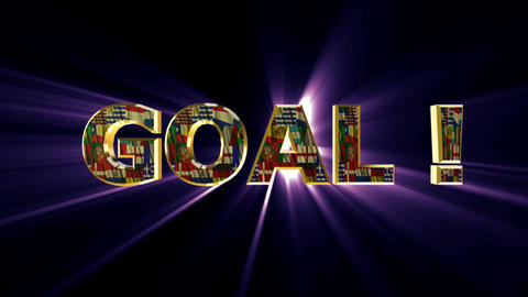 goal animated purple Stock Video Footage