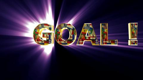 goal animated purple Stock Video Footage