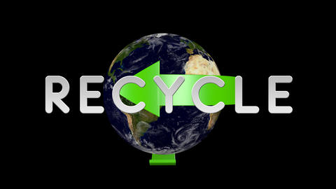 Recycle Earth 01 alpha Stock Video Footage