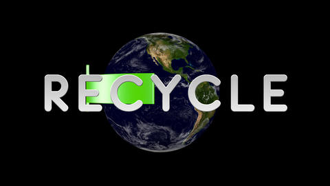 Recycle Earth 01 alpha Animation