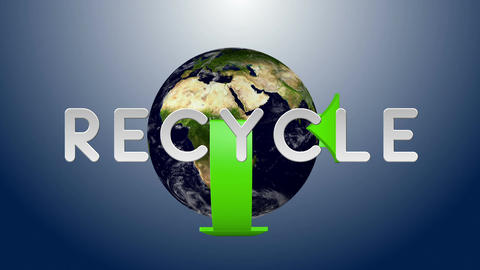 Recycle Earth 03 Stock Video Footage