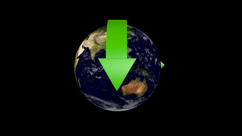 Recycle Earth 05 alpha Stock Video Footage
