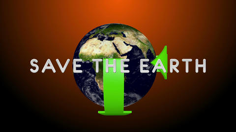 Save The World 01 alpha Stock Video Footage