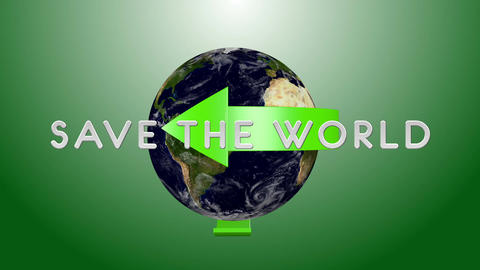 Save The World 02 Stock Video Footage