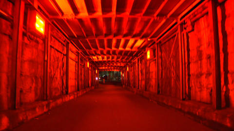 Scary Tunnel Stock Video Footage