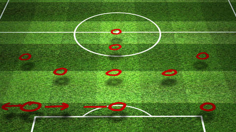 European Football - Soccer Tactics 10 Animation