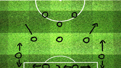 European Football - Soccer Tactics 10 Stock Video Footage