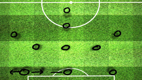 European Football - Soccer Tactics 10 Animation