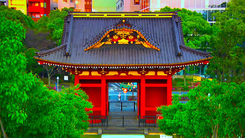 asian shrine Stock Video Footage