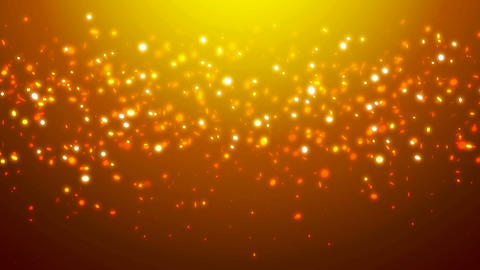 Loopable orange glitter and sparkles over gradient background Animation