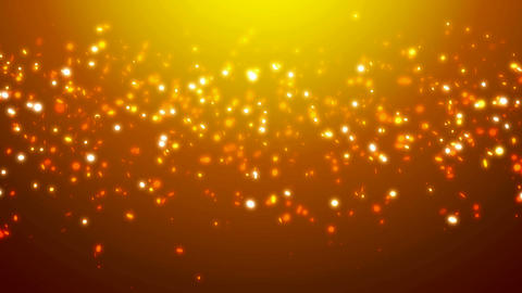 Loopable orange glitter and sparkles over gradient... Stock Video Footage