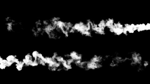 Blue abstract smoke shots or jets. Alpha channel is... Stock Video Footage