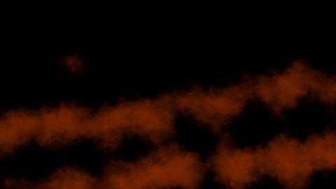 Orange parallel meshy swirls of abstract smoke. Alpha... Stock Video Footage