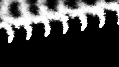 Orange parallel meshy swirls of abstract smoke. Alpha channel is included. You can find other smoke Animation