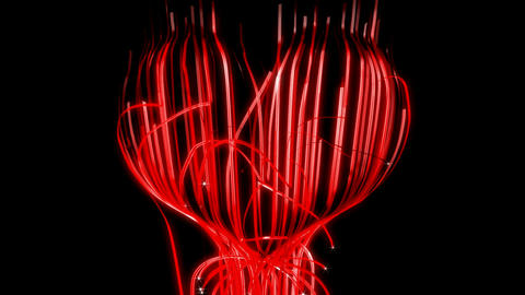 St. Valentine's Day ribbon heart. Alpha channel is included Stock Video Footage