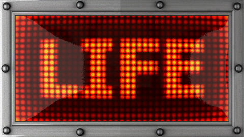 life announcement on the LED display Stock Video Footage