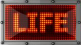 Life Announcement On The LED Display stock footage