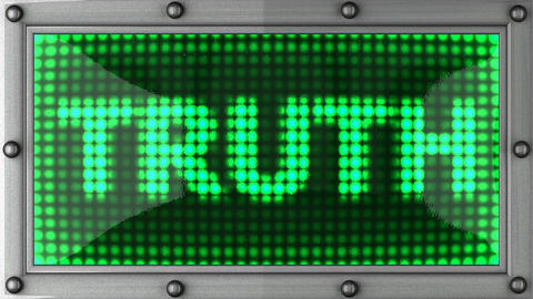 truth announcement on the LED display Stock Video Footage