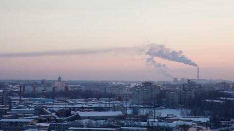 furnace smoke Stock Video Footage