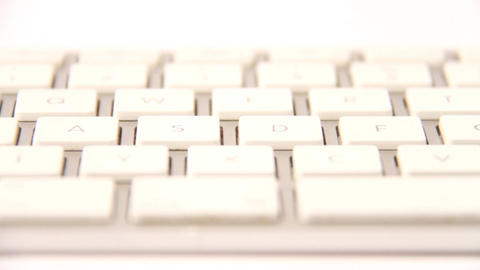 white keyboard Stock Video Footage