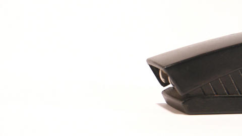 black stapler Stock Video Footage