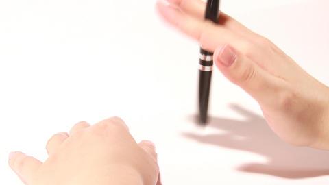 pen fiddling Stock Video Footage