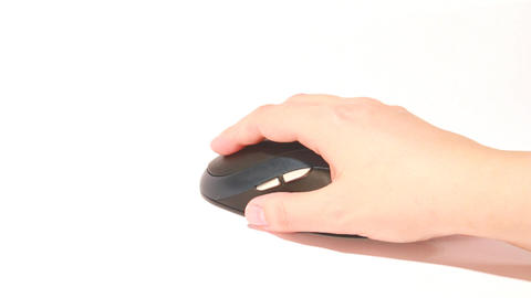 black mouse click loop Stock Video Footage