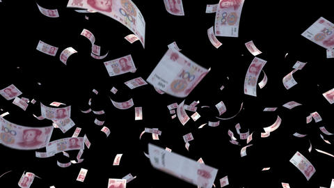 Money RMB with alpha Stock Video Footage