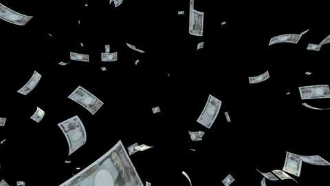 Money Yen L cm with alpha Stock Video Footage
