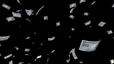 Money Yen L cm with alpha Animation