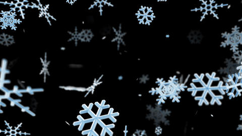Snow Flake la with alpha Stock Video Footage