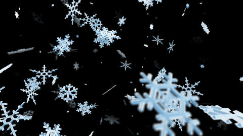 Snow Flake ld with alpha Stock Video Footage