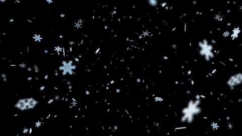 Snow Flake sa with alpha Stock Video Footage