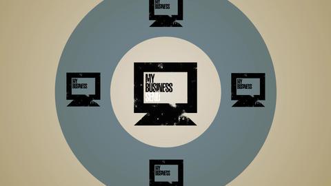 Computer Global Business Loop HD Stock Video Footage