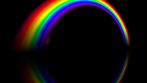 Rainbow BBM with alpha Stock Video Footage
